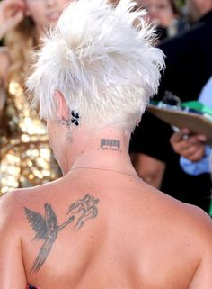pink barcode tattoo